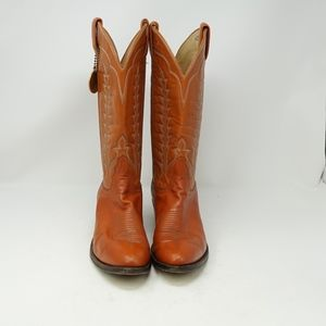 Tony Lama Vintage Western Tan Leather Boot 8.5
